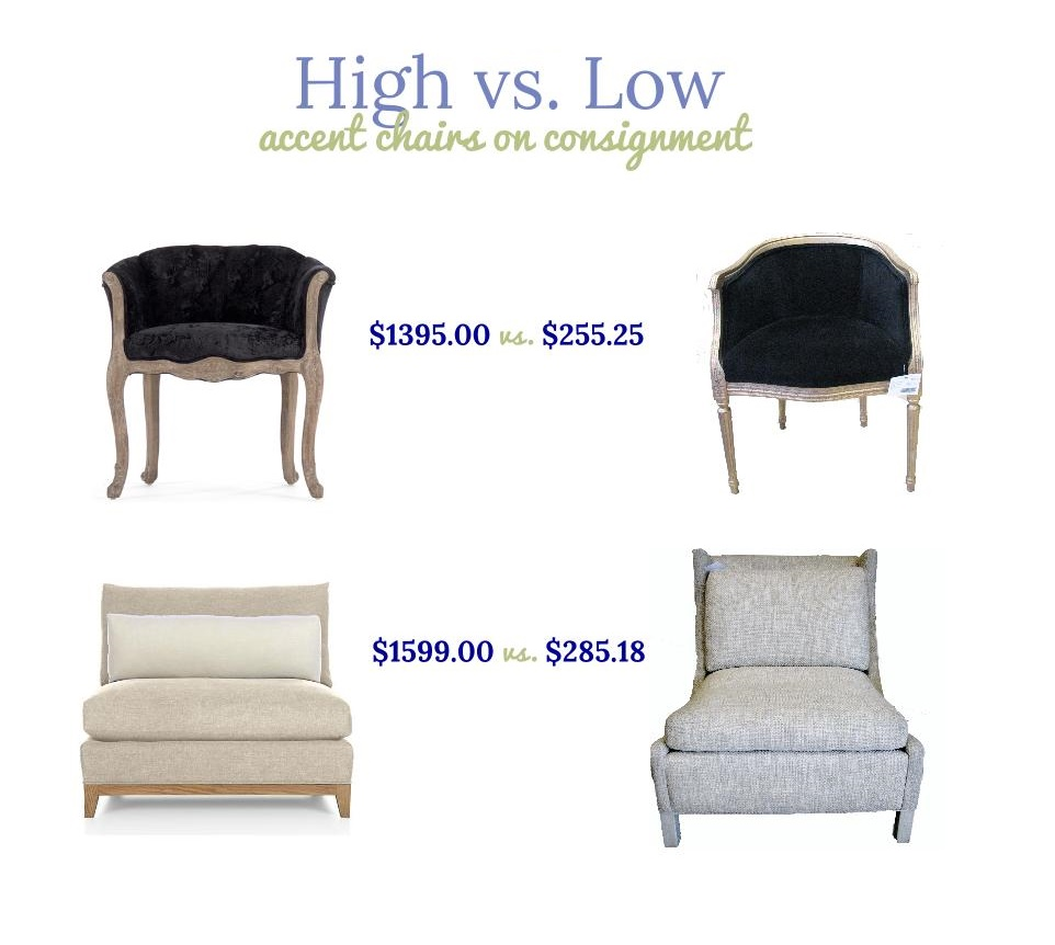 High Vs Low Accent Chairs On Consignment