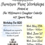 Now offering Bluestone House furniture paint workshops at our Oakville store!