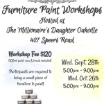 Furniture paint workshops in Oakville Sept. & Oct. dates available!