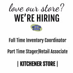 We're hiring for our new Kitchener store!