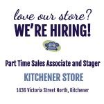 We're hiring Part Time Kitchener!