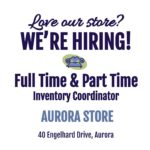 Hiring Full Time & Part Time at our Aurora location!
