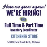 Hiring Full Time or Part Time Inventory Pricing Kitchener location!